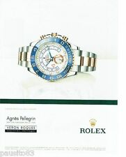 PUBLICITE ADVERTISING 106  2012  Rolex  montre Oyster perpetual yacht master