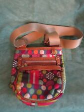 LILY BLOOM dots stripes flowers small CROSS BODY PURSE - good condition