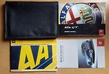 GENUINE ALFA ROMEO GT HANDBOOK OWNERS MANUAL WALLET 2003-2010 PACK D-26