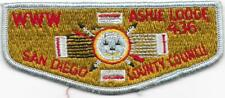 S10 Ashie Lodge 436 Order of the Arrow OA Flap Boy Scout of America BSA