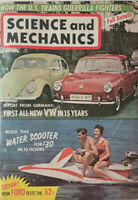 Science And Mechanics Oct 1961 Vtg Magazine German VW - Water Scooter NoML GD