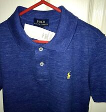 Ralph Lauren Boys Polo Top Short Sleeve Blue Age 3 New With Tags