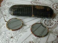 Lunettes de Soleil Vintage 1930 Métal Gainé Écaille Sunglasses Objets du XXème