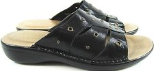 Easy Spirit Women Leather Sandals Size 10 M Black Style 0611