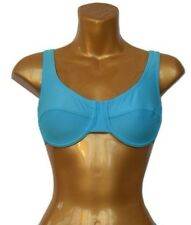 New Blue Underwired Bikini Top UK 38B no padding Eur 85B wide supportive straps