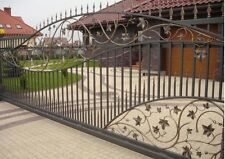 WROUGHT IRON DRIVEWAY SLIDING GATE MADE TO MEASURE