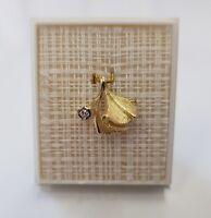 585 Gelbgold Designer Anhänger Diamant/Brillant