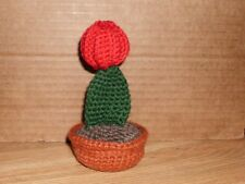 Handmade Crocheted Amigurumi Moon Cactus Succulents/Cactus by The Knitting Gnome