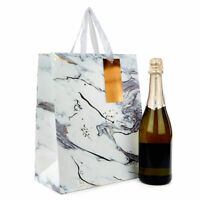 Luxury White Marble Paper Present Wedding Gift Bags Handles Birthday Package
