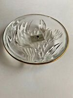"Studio Nova Gilded Iris Round Candy Dish/Trinket Dish 5"" MAD in Japan"