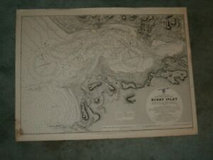 Vintage Admiralty Chart 1167 WALES - BURRY INLET 1887 edn