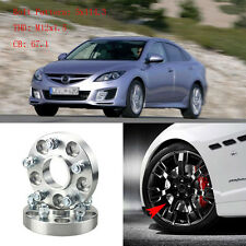 "4pcs 1"" Wheel Spacers Adapters 5 Lug 5x4.5""/5x114.3-12x1.5 Studs For Mazda 6 04+"