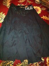 ASHLEY By 26 International Skirt Size S Sexy Sheer Flare Embroidered Design