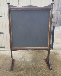 Large Vintage Double Sided School Blackboard Freestanding