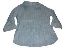 H & M tolle Bluse Gr. 44 hellblau gestreift !!