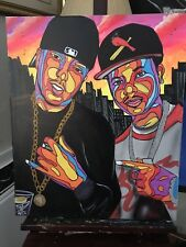 FRENCH MONTANA CHINX DRUGS COKEBOYS 20x24 HIP HOP PAINTING