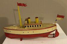 Vintage german made marklin carette fleischmann tin toy wind up boat