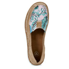 Ladies Ariat Cruiser - Camel Suede/Palm Print   - Sizes 7B to 11B