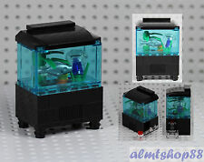 LEGO - Aquarium Fishtank w/ Jellyfish Fish Food Minifigure Animal Ocean Water