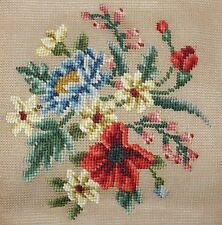 Vintage Dritz Needlepoint  Preworked Canvas Flotral Design  20 x 20 w/ Tag