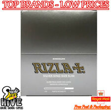 Rizla Tobbaco Silver King Size Slim Cigarette Rolling Papers 50 Packets Full Box