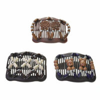 Easy Magic Wood Beads Double Hair Comb Clip Stretchy Women Hair Accessories Hot