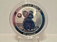 2017 1 oz Perth Mint Silver Koala (Kangaroo Privy) 50K Limited Mintage (BU)
