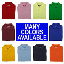 Toddler Boys Pique Polo Shirt Short Sleeve Universal School Uniform Size 2T - 4T