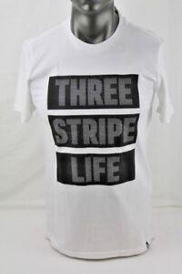 Adidas S/S 3 STRIPE MESH T-SHIRT WHITE/BLACK 116863735