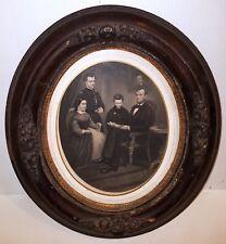 (ANTIQUE) ABRAHAM LINCOLN & FAMILY ~ Original Oval Frame Antique Framed Portrait