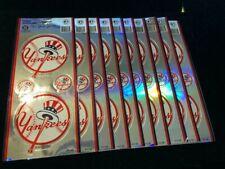 10 Count lot: New York Yankees 4 Piece Sticker Set - Prismatic Foil