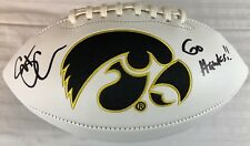 SCOTT CHANDLER HAND SIGNED FOOTBALL AUTOGRAPHED TIGHT END RARE IOWA HAWKEYES