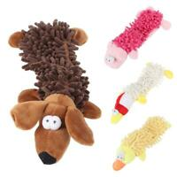 Plush Dog Puppy Pets Squeaker Toys Squeaky Funny Sound Play Mop Chew Toy