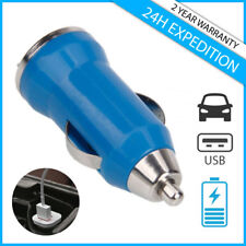 A+ CAR CHARGER CHARGING CHARGEUR VOITURE USB BLUE FOR IPHONE IPAD IPOD ANDROID