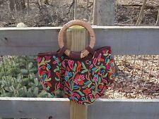 Fair Trade Handcrafted Wood Handle Purse / Handbag made in Nepal.