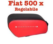 Bracciolo Fiat 500 X Pelle Bicolor Nero e rosso Regolabile Armrest Armlehne TOP
