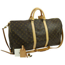 Auth LOUIS VUITTON Keepall 55 Bandouliere 2way Duffle Bag Monogram M41414 A34094