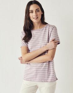 New Crew Clothing Womens Breton Short Sleeve T-Shirt in