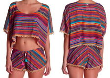 New listing Ale by Alessandra Bahia Swim Cover Up Top XSmall / Small Beaded $140 Crochet NWT