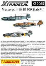 Xtradecal 1/32 Messerschmitt Bf 109 Stab Part 1 # 32065