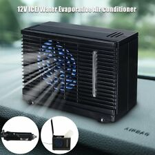 Portable 12V Mini Evaporative Air Conditioner Car Ice Water Cooler Cooling Fan