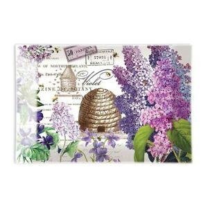 Michel Design Works Glass Trinket / Soap Dish Lilac & Violets - NEW