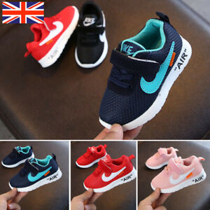 UK Kids Baby Infants Trainers Shoes Boys Girls Sport Running Toddler Gym Sneaker