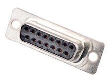 FCT - A MOLEX COMPANY F Series PCB Mount Solder D-sub Connector Socket, 15 Way,