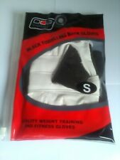 Vyomax Black Towelling Training Men's Gloves Weights Fitness Gym Bnwt