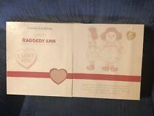 Dakin Raggedy Ann Dolls Through the Years Applause 85th Birthday Set 2000 MIB