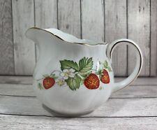 More details for queens queen's virginia strawberry milk jug - vintage china