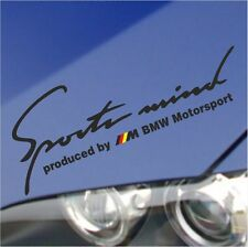 "BMW SPORT MIND M GERMAN FLAG HOOD EYEBROW WINDOW DECAL STICKER BLACK M2 10"""