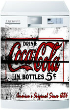 Sticker dishwasher deco kitchen vintage Coca Cola ref 1721 60x60cm