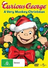 Curious George: A Very Monkey Christmas - The Man NEW R4 DVD
